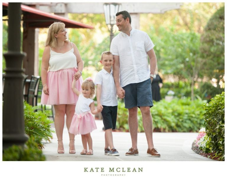 orlando family vacation photography omni resort champions gate florida kate mclean photography kids pink candids little blonde girl