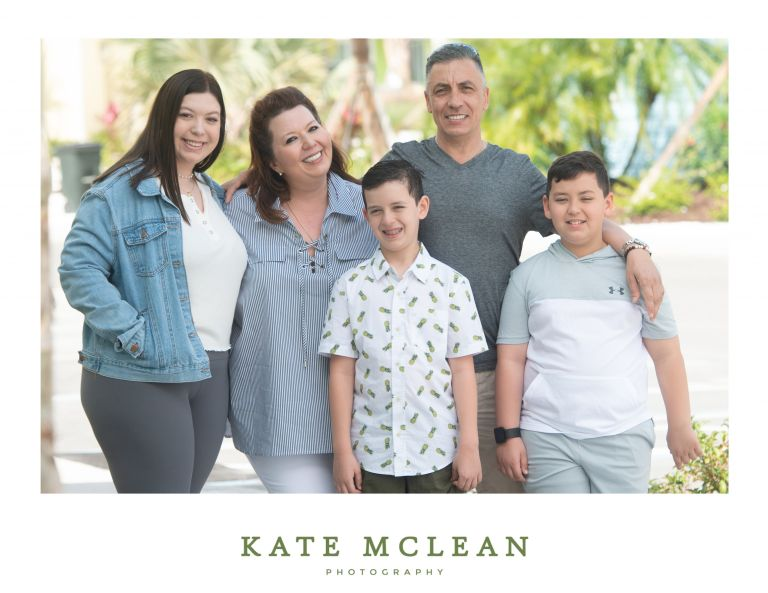 Family Photography at Margaritaville Resort Orlando by Kate McLean Photography family of five