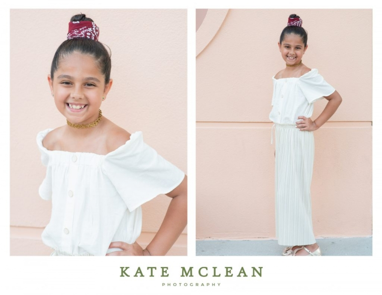 Family Photography in Celebration Florida with Fountain background by Kate Mclean Photography