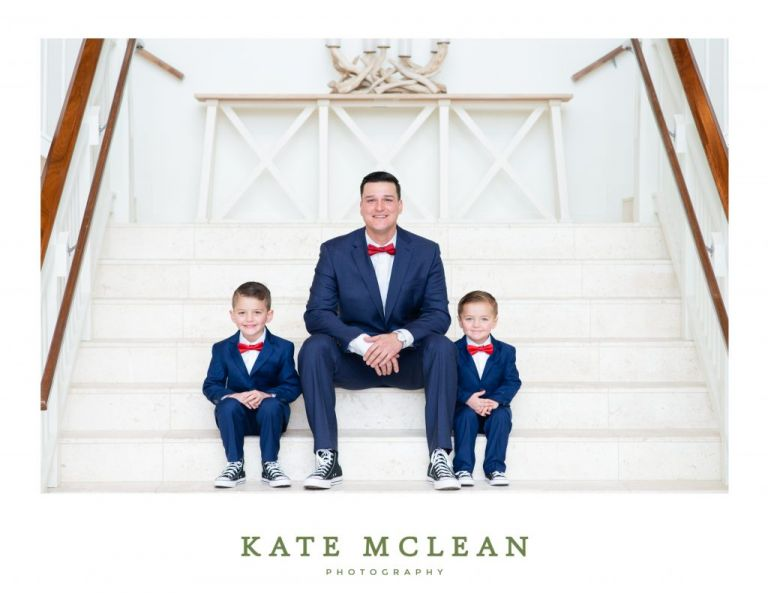 Family Photoshoot at Margaritaville Resort Orlando Kate Mclean photography stairs lobby