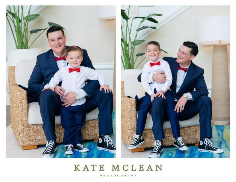 Family Photoshoot at Margaritaville Resort Orlando father son photos