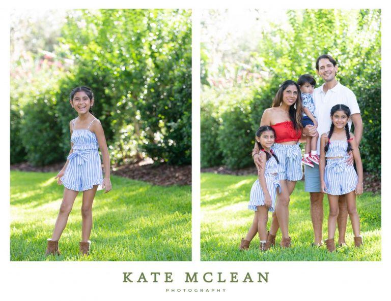 Fun Summertime Family Photos fourth of July in Florida photos