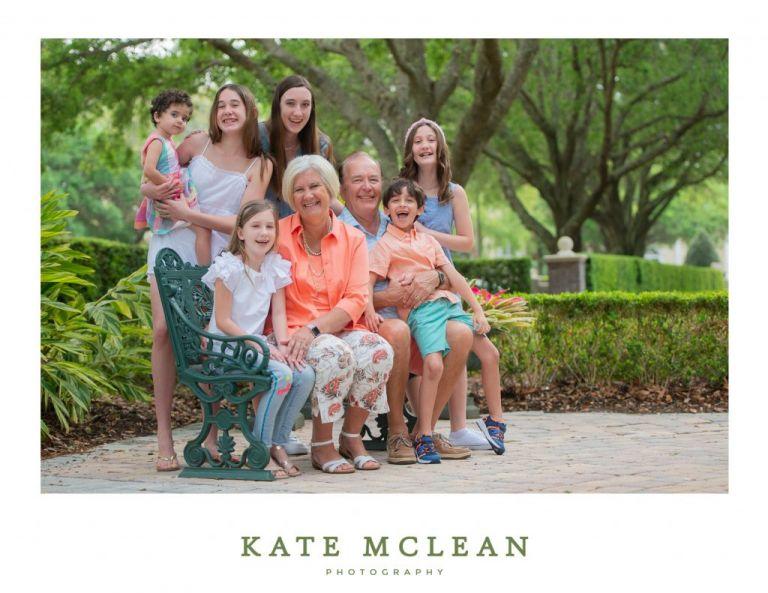Grandparents and kids family photography Orlando Florida